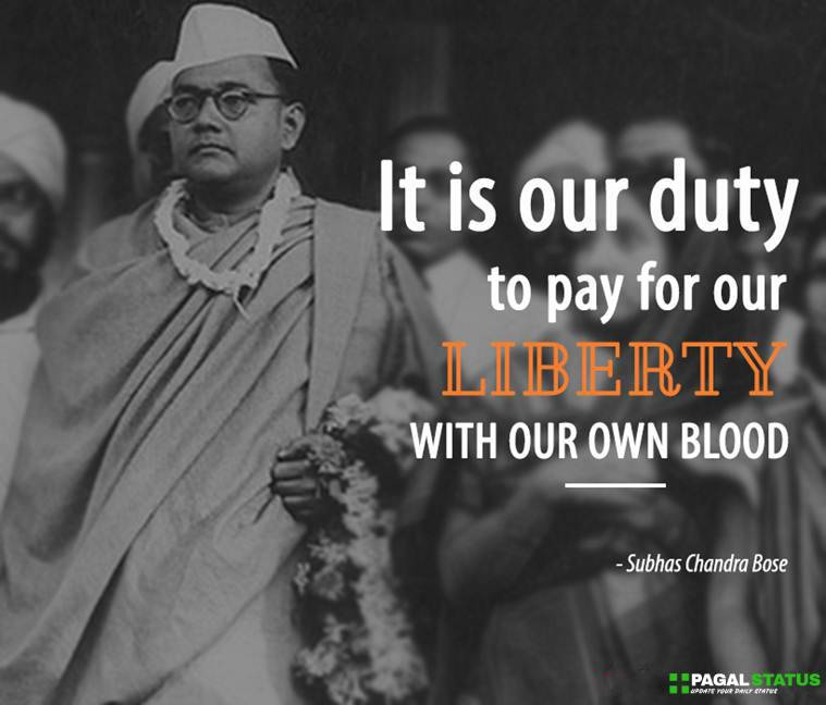 It is our duty to pay for our liberty with our own blood.