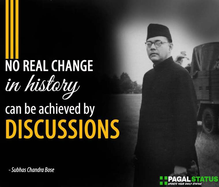 No real change in history can be achieved by discussions.
