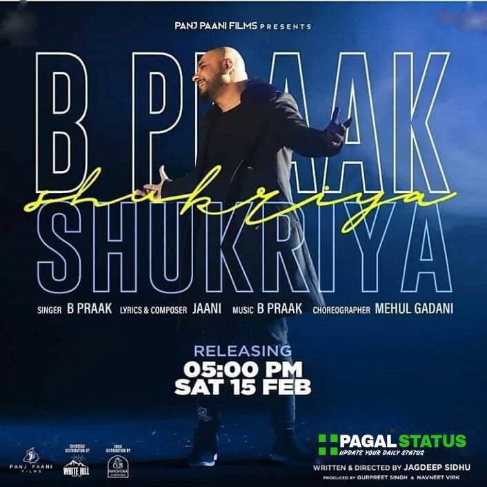 Shukriya BPraak Song Whatsapp Status Video Download