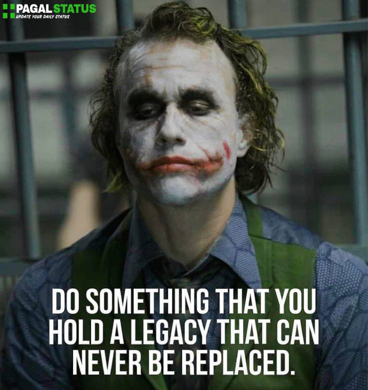 Two Lines Quotes Status Images With joker face
