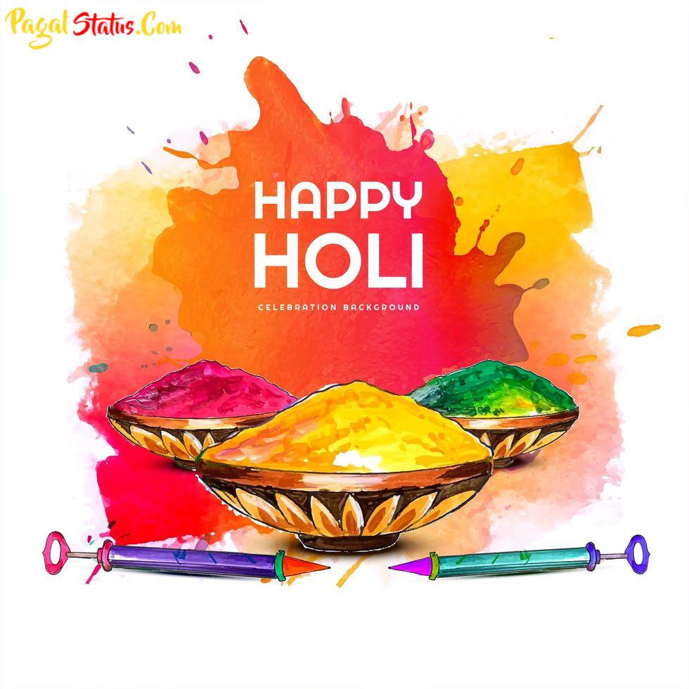 Happy Holi Images With Short Quotes
