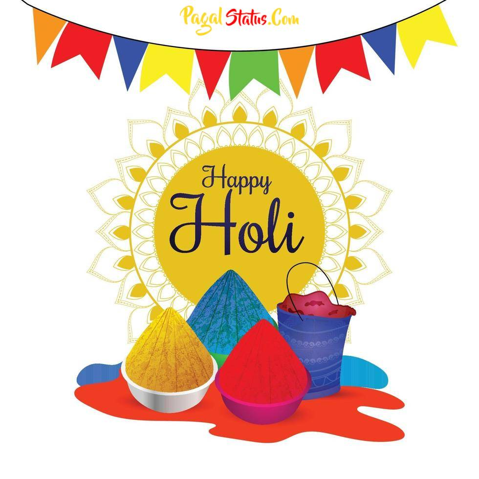Happy Holi 2021 HD Images With Two Lines Quotes