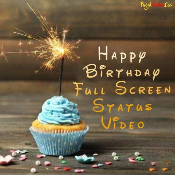Happy Birthday Full Screen Status Video