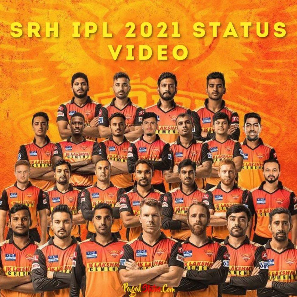 SRH IPL 2021 Status Video