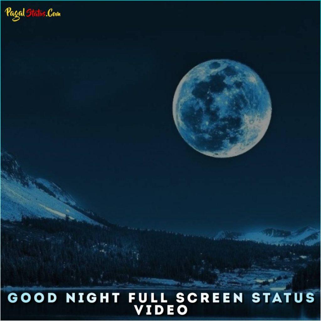 Good Night Full Screen Status Video