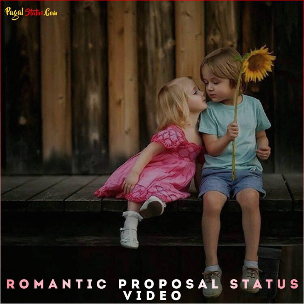 Romantic Proposal Status Video