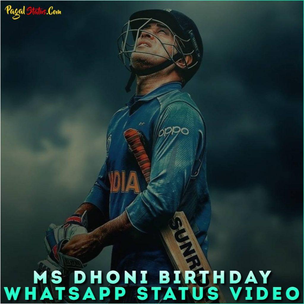 MS Dhoni Birthday Whatsapp Status Video
