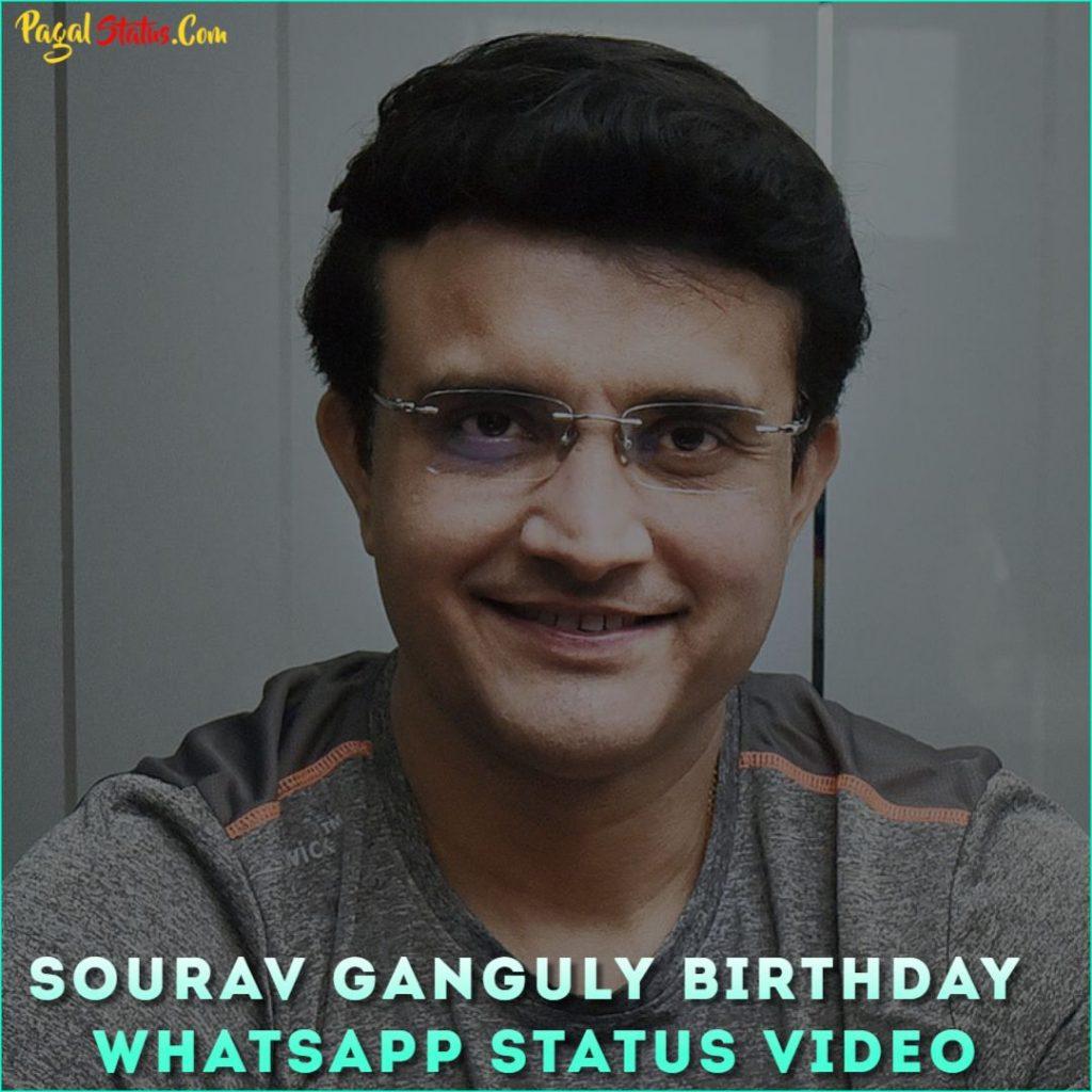 Sourav Ganguly Birthday Whatsapp Status Video