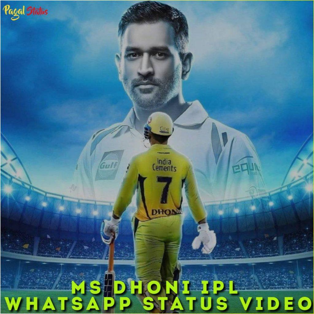 MS Dhoni IPL Whatsapp Status Video