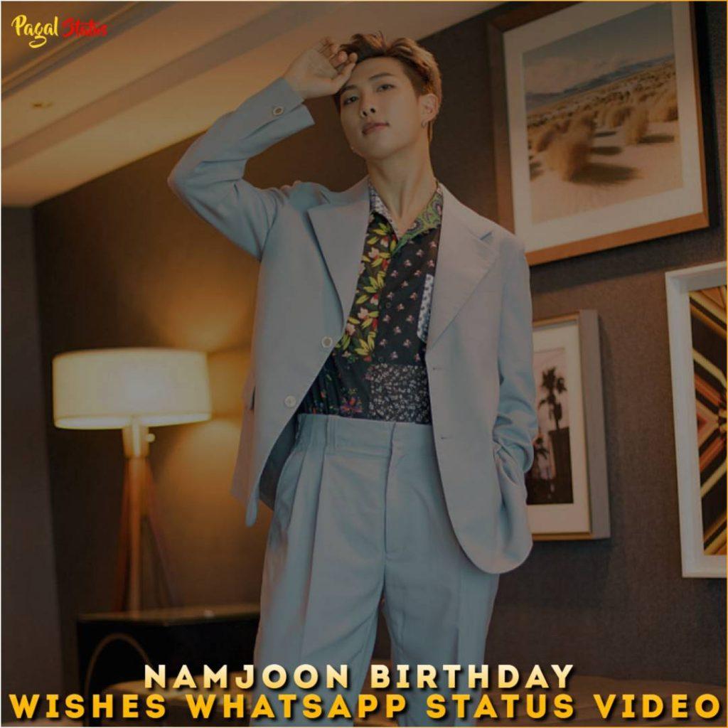 Namjoon Birthday Wishes Whatsapp Status Video