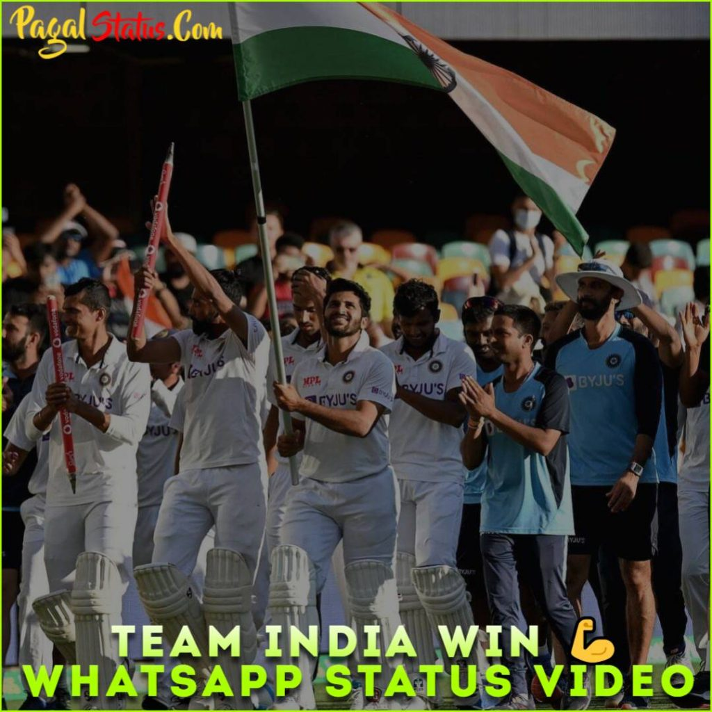 Team India Win Whatsapp Status Video